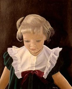 Oil painting: Portrait of a girl
