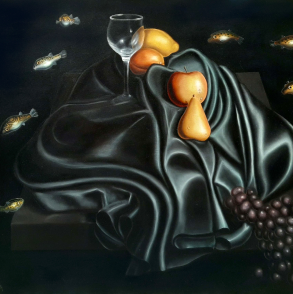Oil Painting: Still Life with Puffers (Unrealism)